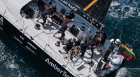 """""""Ambersail-2"""" komanda startuoja finaliniame """"The Ocean Race Europe"""" etape: laukia atkakli kova negailestingose sąlygose. (nuotr. Organizatorių)"""