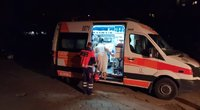 Per gaisrą D. Gerbutavičiaus gatvėje nukentėjo vyras (nuotr. tv3.lt)