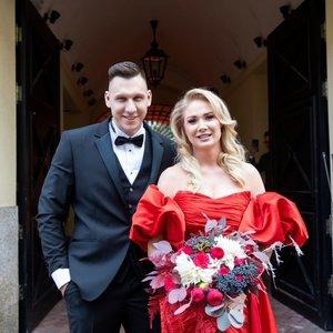 Vilniuje susituokė Natalija Bunkė ir Edgaras Eidėjus: neslėpė jaudulio