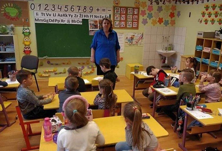 Mokykla (Širvintų pradinės mokyklos archyvo nuotr.)