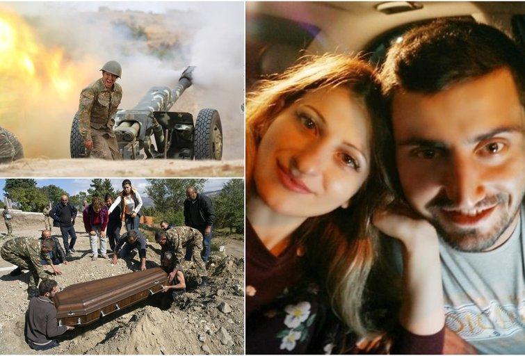 Vilniuje gyvenanti armėnė Gajana Kalnų Karabacho kare neteko dviejų artimųjų (tv3.lt fotomontažas)