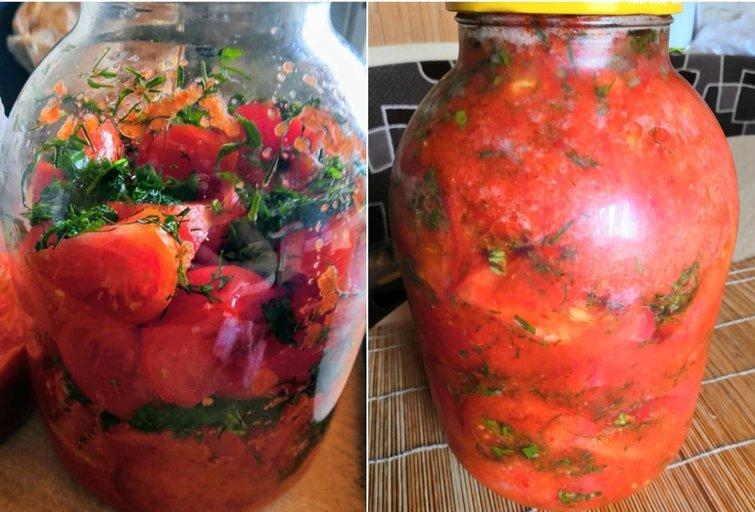 """Korėjietiški pomidorai (nuotr. """"Vakavimas.lt"""")"""