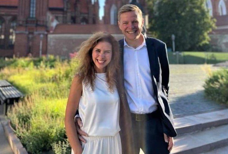 Remigijus Šimašius ir nauja jo žmona (nuotr. facebook.com)