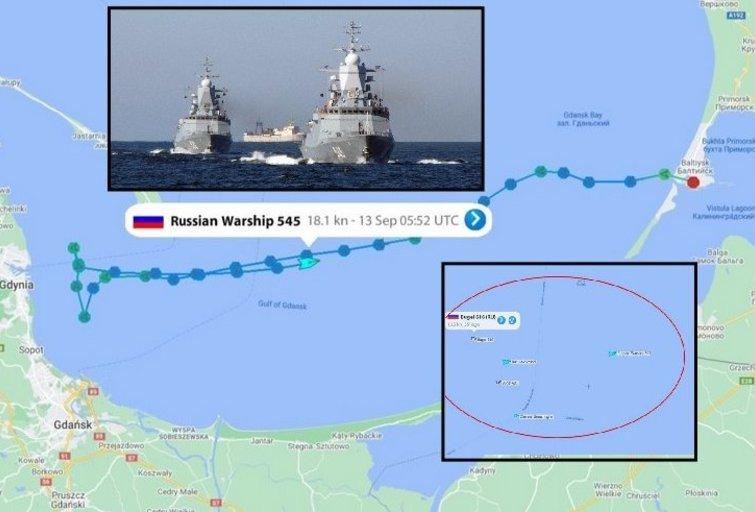 """Rusijos provokacija? Penki karo laivai-vaiduokliai """"atsirado"""" prie Lenkijos krantų (nuotr. SCANPIX) tv3.lt fotomontažas"""