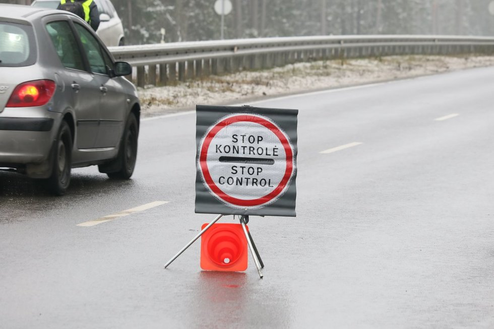 Policijos postas Nemenčinėje