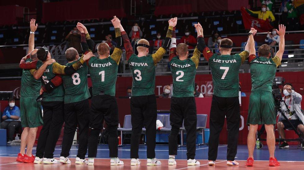 Lietuvos golbolininkai iškovojo bronzą Tokijuje