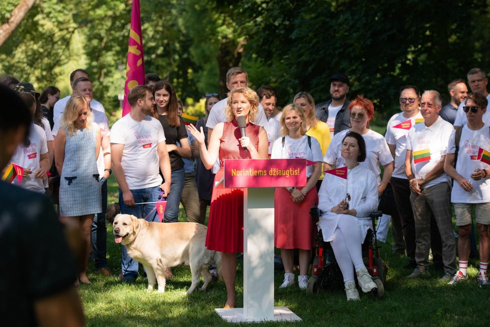 """""""Laisvės partijos"""" rinkimų kampanijos paskelbimas (nuotr. Justinas Auškelis/TV3)"""
