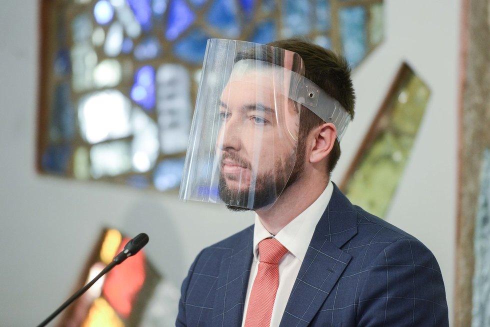 Rytas po rinkimų – Laisvės partijos spaudos konferencija (nuotr. Fotodiena/Justinas Auškelis)