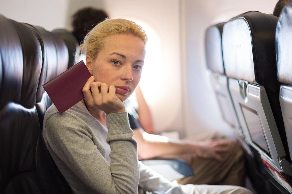 Asociatyvi nuotrauka. Lėktuvo keleivė