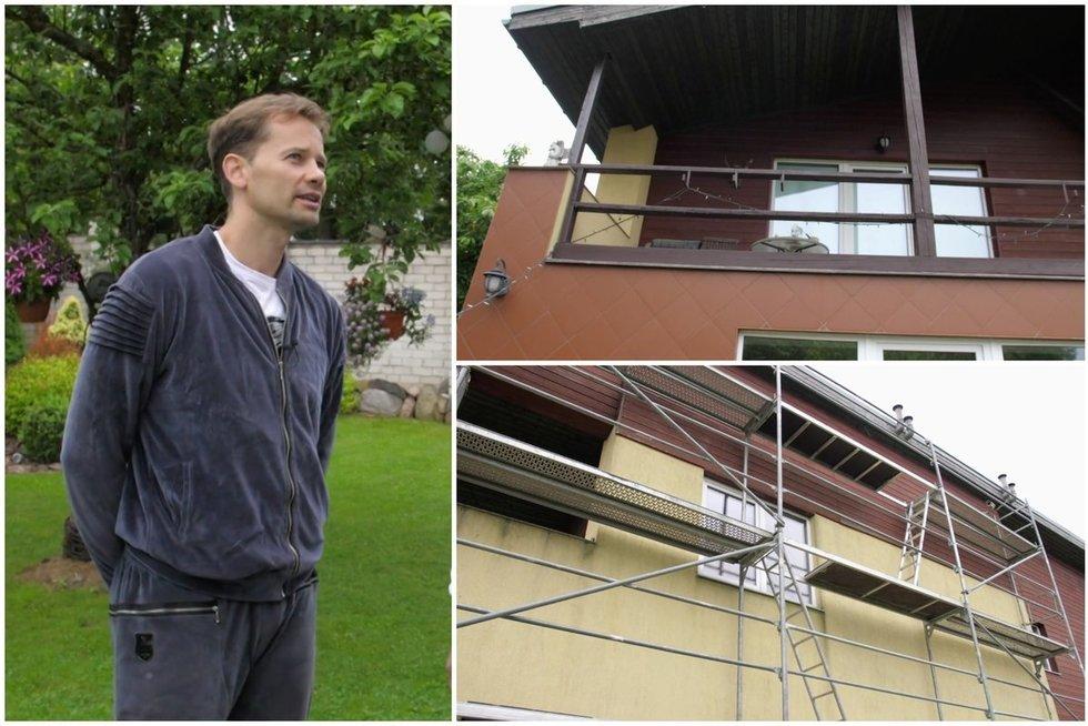 """Ištraukos iš laidos """"Penkių žvaigždučių"""" būstas – Nerijus Juška aprodė savo namą (tv3.lt fotomontažas)"""