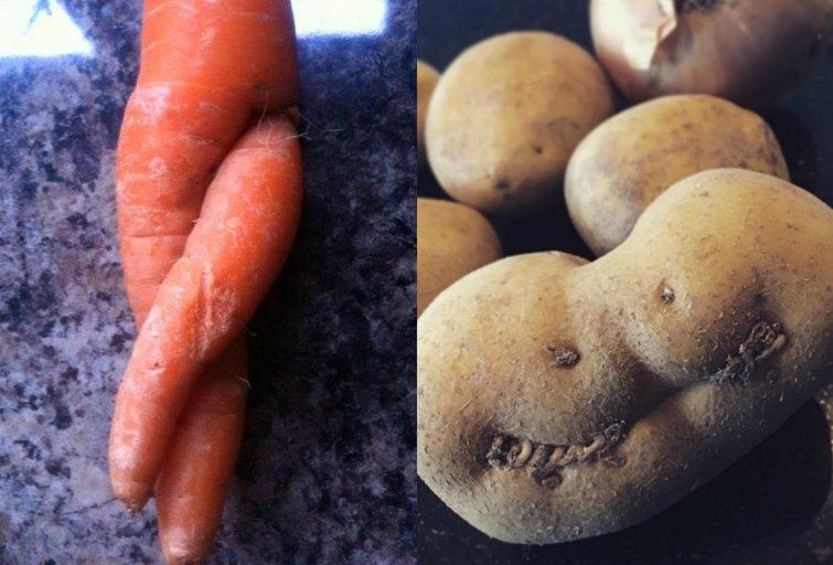 Deformuotos daržovės ir vaisiai (nuotr. Instagram)