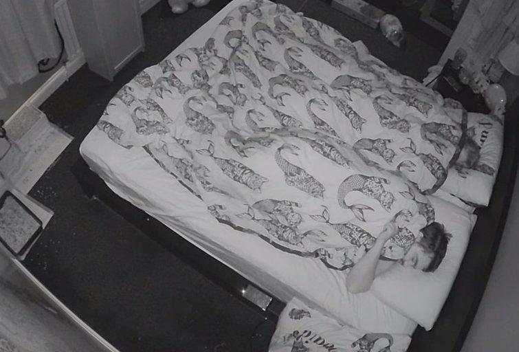 Namų apsaugos kameros užfiksuotas vaizdas (nuotr. YouTube)