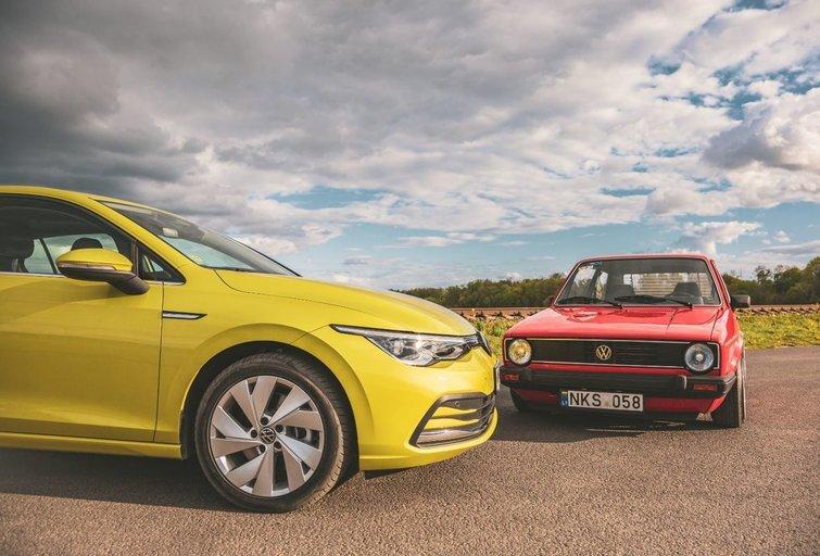 """Aštuntos kartos VW """"Golf"""" susitikimas su proseneliu (nuotr. Kamilė Miliūtė)"""