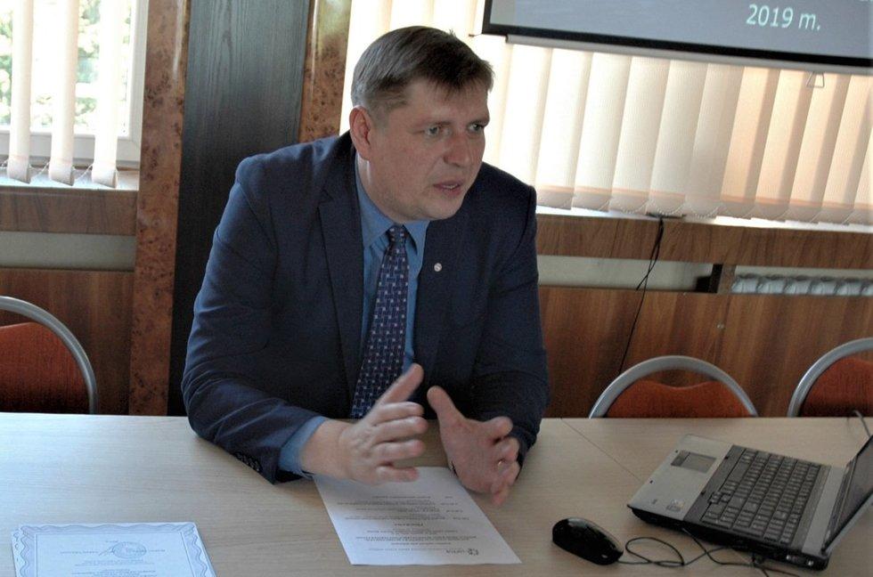 Lietuvos sutrikusios psichikos žmonių globos bendrijos vadovas Vaidotas Nikžentaitis. L. Jakubauskienės nuotr.