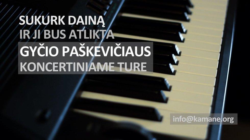 Sukurk dainą ir ji bus atlikta Gyčio Paškevičiaus koncertiniame ture!!! (nuotr. tv3.lt)