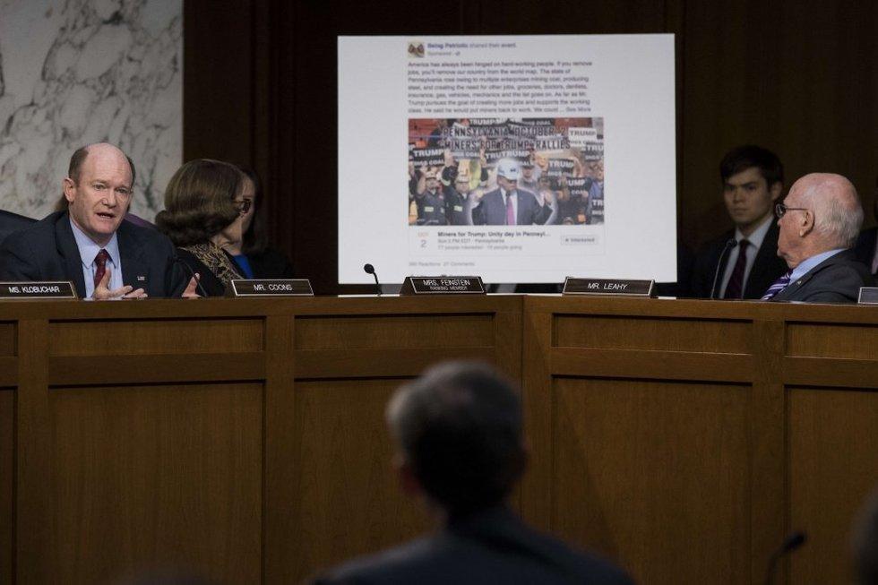 """JAV Senate svarstoma """"Facebook"""" reklamos įtaka 2016-ųjų prezidento rinkimams (nuotr. SCANPIX)"""