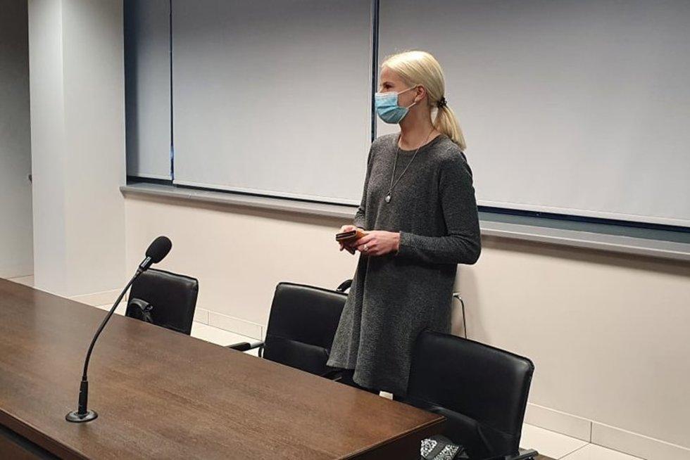 E. Geležiūnienė teisme (nuotr. TV3)