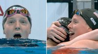 Pamatykite septyniolikmetės Jacobey plaukikės emocijas – netikėtai išplėšė auksą