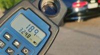 """Privačių namų kvartale """"Audi"""" vairuotojas skriejo beveik 200 km/val. greičiu (nuotr. Policijos)"""