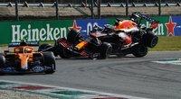 M. Verstappeno ir L. Hamiltono susidūrimas (nuotr. SCANPIX)