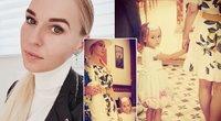Birutė Navickaitė pakrikštijo dukrą (nuotr. facebook.com)