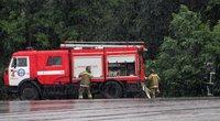 Ukrainos ugniagesiai (nuotr. SCANPIX)