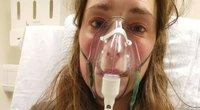 """Dviejų vaikų mama sako, kad praėjus dviems mėnesiams po to, kai ji įveikė koronavirusą, vis dar gyvena """"prie mirties"""" (nuotr. facebook.com)"""