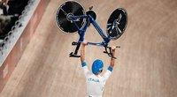 Pasaulio rekordą pagerinę italai šėlo olimpiniame velodrome