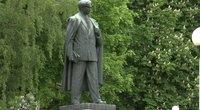 Petro Cvirkos paminklas kursto aistras: savivaldybė statulą vadina balandžių išviete (nuotr. stop kadras)