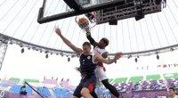 Įspūdingas japono dėjimas olimpiniame 3x3 krepšinyje – įrėmino varžovą plakate