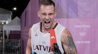 Latviai arti medalio: trijulių krepšinio rinktinė olimpiadoje kovos pusfinalyje