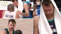Pamatykite Luka Dončičiaus emocijos po pralaimėto mūšio – įsiūtis ant teisėjo ir šiltas pokalbis su Batumu