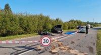 Kraupi avarija Trakų rajone: žuvo jaunas motociklininkas  (nuotr. Broniaus Jablonsko)