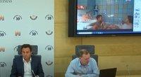 Gražulio ir Puteikio akibrokštas: per spaudos konferenciją paspaudė ne tą video – demonstravo nuogybes (nuotr. stop kadras)
