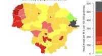 Lietuvoje – viena juoda COVID–19 savivaldybė