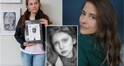 Gustinos piešti portretai priverčia išsižioti iš nuostabos: atrodo lyg nuotrauka