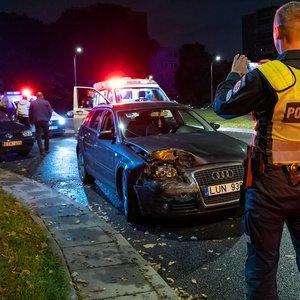 Vilniuje vyko reidai, naktį neišvengta ir girtų vairuotojų avarijų