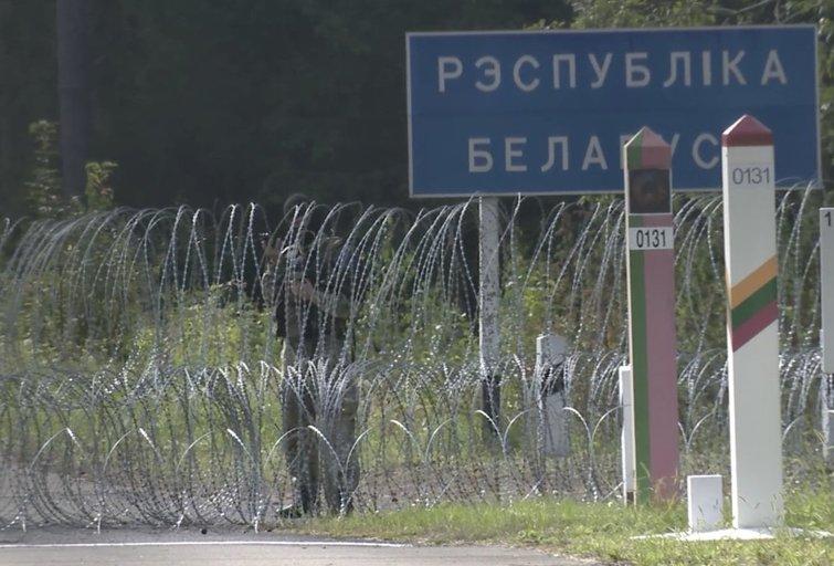 Pasienis su Baltarusija (nuotr. stop kadras)