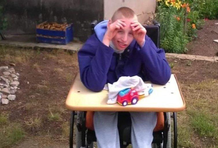 Nojus iki šiol naudojasi specialiu vežimėliu. (nuotr. asm. archyvo)