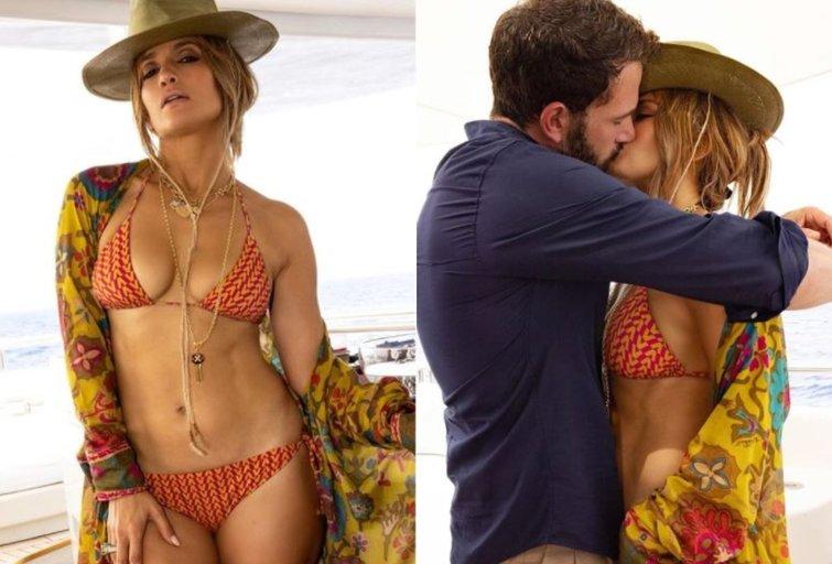 Jennifer Lopez ir Benas Affleckas (nuotr. Instagram)