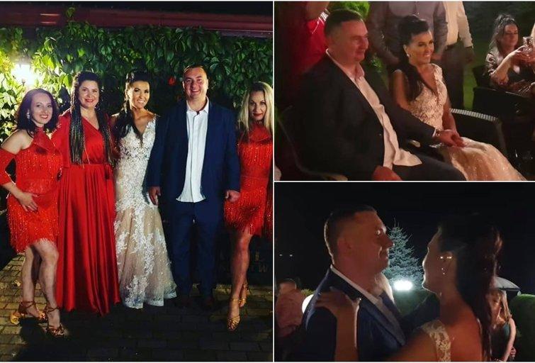 Tomas Bagdonavičius su žmona bei šokėjomis (tv3.lt fotomontažas)