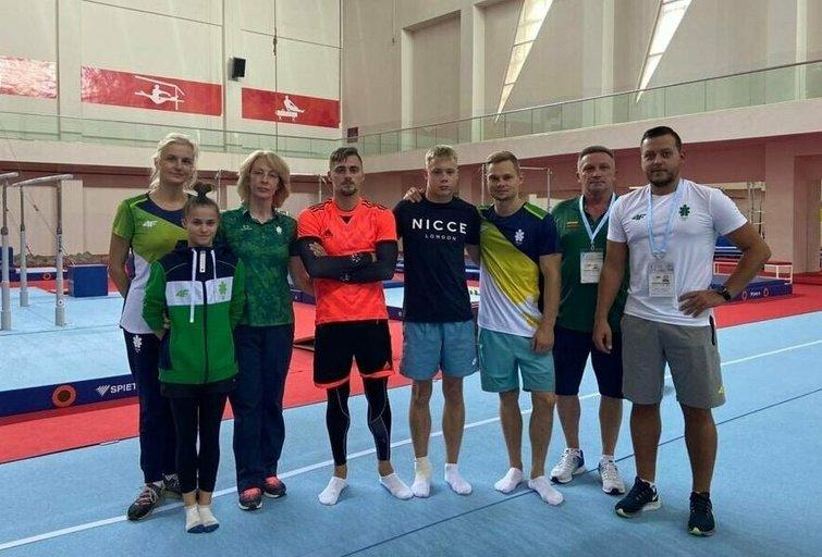 Lietuvos sportinės gimnastikos rinktinė (nuotr. Organizatorių)