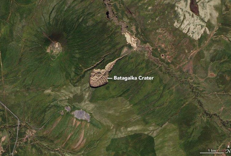 Batagaikos krateris (nuotr. NASA) (nuotr. Gamintojo)