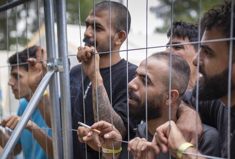 Rūdninkų migrantų stovykla (nuotr. SCANPIX)