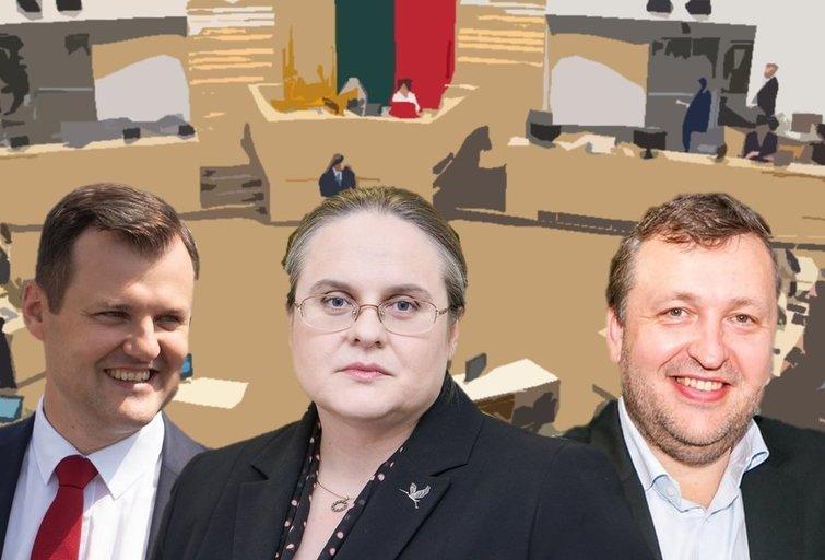 Gintautas Paluckas, Agnė Širinskienė, Antanas Guoga (tv3.lt fotomontažas)