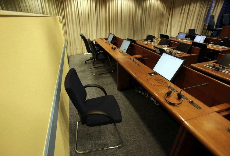 Hagos tribunolo kaltinamojo kėdė (nuotr. SCANPIX)