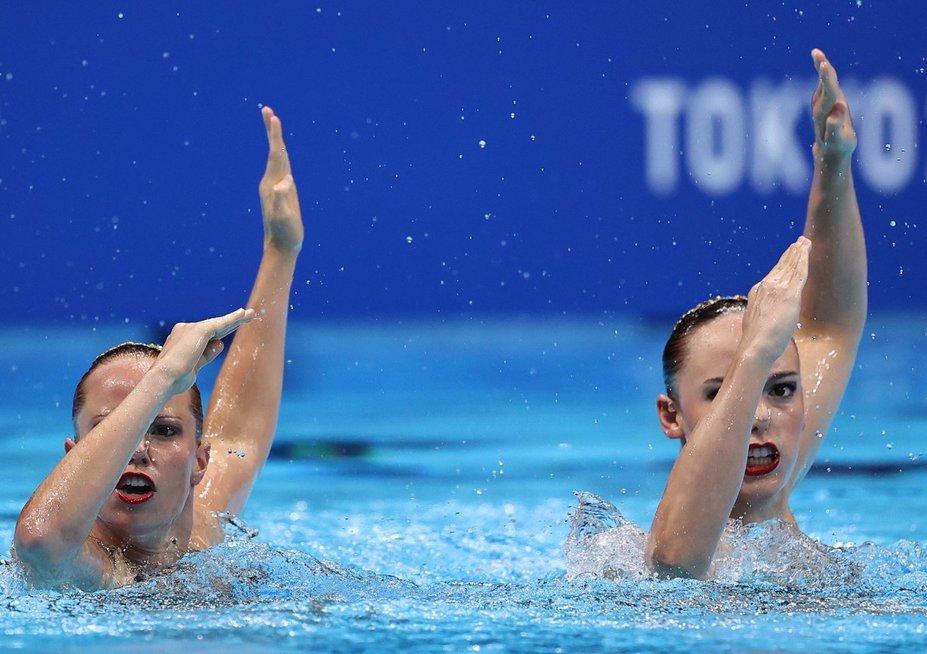 Moterų dueto sinchroninio plaukimo finalas