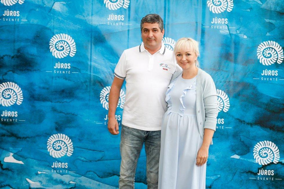 Neringos savivaldybės meras Darius Jasaitis su žmona_