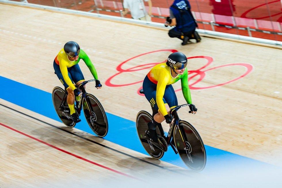 Garbingas rezultatas: Simona Krupeckaitė ir Miglė Marozaitė sprinte iškovojo 5 vietą (nuotr. Vytauto Dranginio)