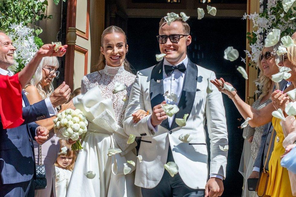 Viktorija Siegel ir Lauryno Suodaičio vestuvių akimirkos (Irmantas Gelūnas/Fotobankas)